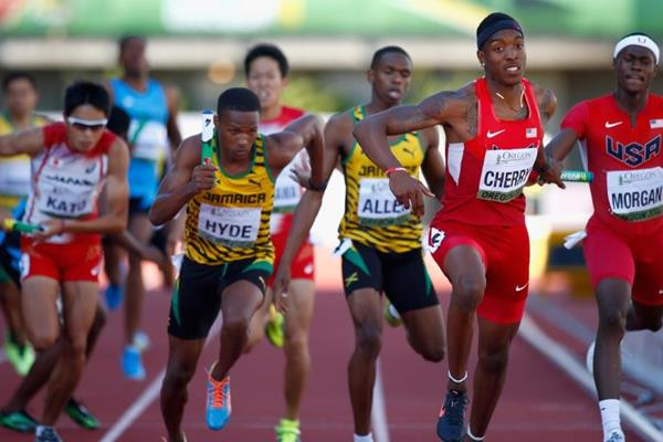 The men's 4x400m at the IAAF World Junior Championships, Oregon 2014 (Getty Images)