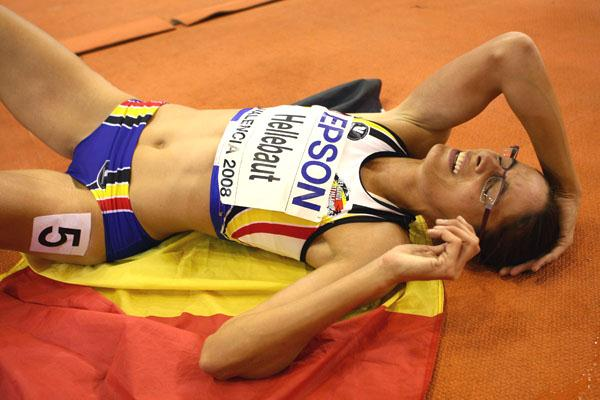 Tia Hellebaut is in disbelief after winning an enthralling pentathlon competition (Getty Images)
