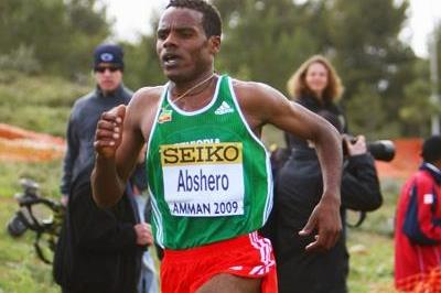 Ayele Abshero, winner of the junior mens' race at the World Cross in Amman (Getty Images)