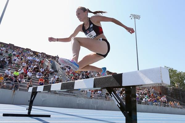 Nicola Bush in action in the 3000m Steeplechase at the 2013 US Championships (Getty Images)