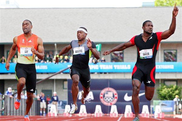 Men's 100m final at the 2012 US Olympic Trials (Getty Images)