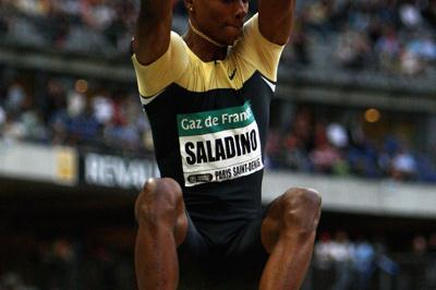 Irving Saladino wins the long jump in Paris with 8.31m (Getty Images)