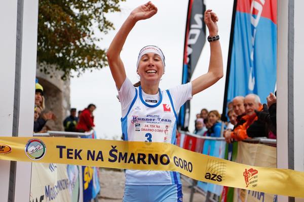 Alice Gaggi wins the 2013 International Smarna Gora Mountain Running Race (WMRA)