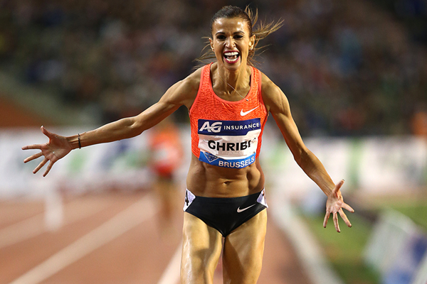 Habiba Ghribi wins the 3000m steeplechase at the IAAF Diamond League final in Brussels (Giancarlo Colombo)