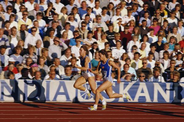Marita Koch in action at the 1985 IAAF World Cup (Getty Images)