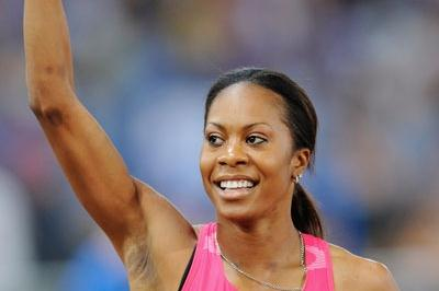 Sanya Richards wins the women's 400m and was the only athlete to run break 50 seconds (Getty Images)