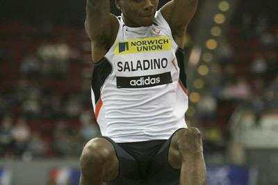 World leading 8.31 leap for Irving Saladino in Birmingham (Getty Images)