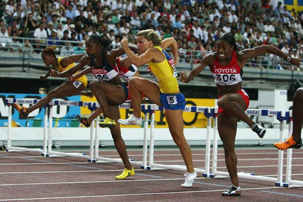 Michelle Perry of the US outdips her rivals to retain her World title (Getty Images)