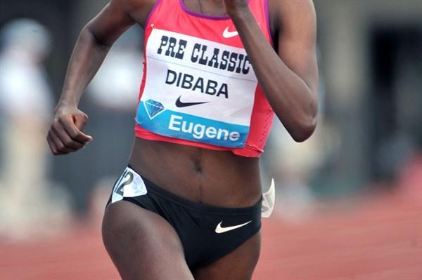 Big win for Tirunesh Dibaba in Eugene (Kirby Lee)