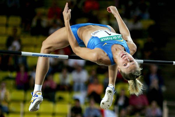 Kajsa Bergqvist wins the High Jump at the World Athletics Final (Getty Images)