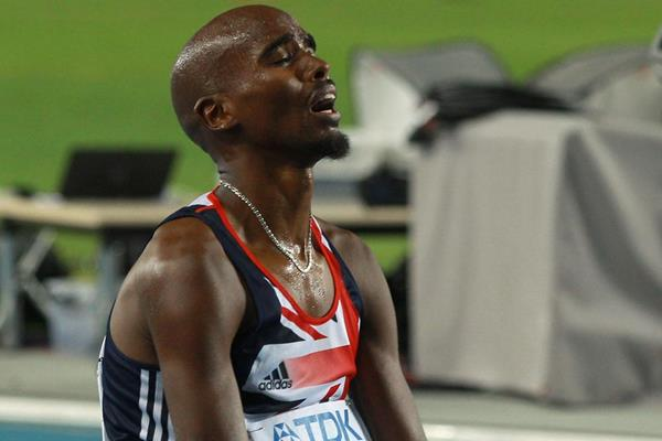 Mohamed Farah of Great Britain reacts after claiming victory in the men's 5000 metres final  (Getty Images)