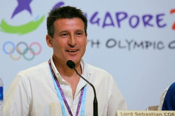 IAAF Vice President and Chairman of the London 2012 Olympic Games Organising Committee Lord Sebastian Coe at a press conference in Singapore (SPH-SYOGOC/ Geoffrey Pereira)