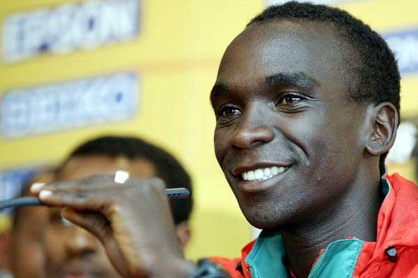 Eliud Kipchoge (KEN) at the IAAF Press Conference (Getty Images)