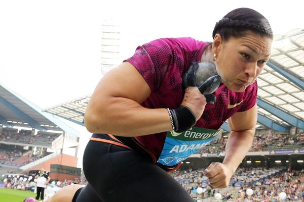 Valerie Adams at the 2014 IAAF Diamond League final in Brussels (Gladys von der Laage)