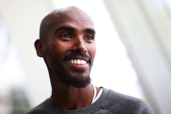 Mo Farah at the press conference ahead of the Glasgow Indoor Grand Prix (Getty Images)
