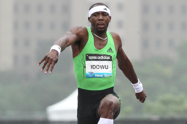 Phillips Idowu competing in the 2011 Samsung Diamond League meeting in New York (Victah Sailer)