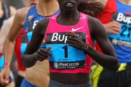 Vivian Cheruiyot running in the 2009 BUPA Great Manchester Run (10km) (Getty Images)