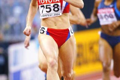 Natalya Nazarova of Russia dominates the 400m semi-final (Getty Images)