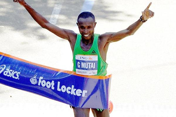 A spectacular 2:05:06 course record for Geoffrey Mutai in New York (Getty Images)