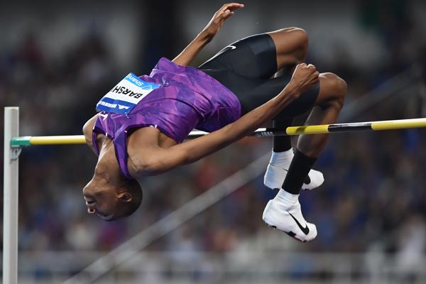 Mutaz Essa Barshim sets a meeting record in the high jump at the IAAF Diamond League meeting in Shanghai (Errol Anderson)