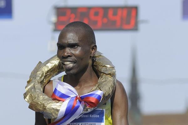 Patrick Kiptanui Korir at 2013 International Peace Marathon in Kosice (organisers)