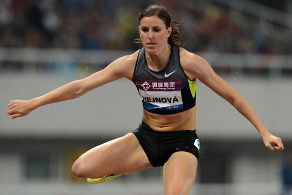 Zuzana Hejnova, winner of the 400m Hurdles at the Shanghai Diamond League (Jiro Mochizuki)
