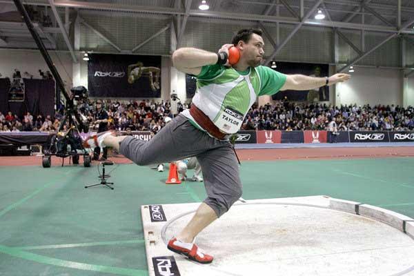 Dan Taylor shot puts in Boston (Victah Sailer)