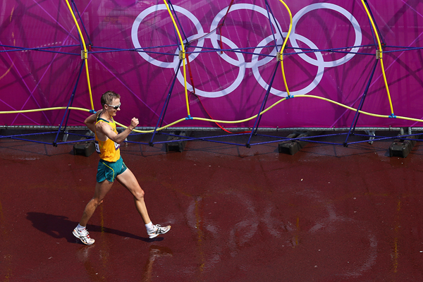 Jared Tallent in the 50km race walk at the London 2012 Olympic Games (Getty Images)