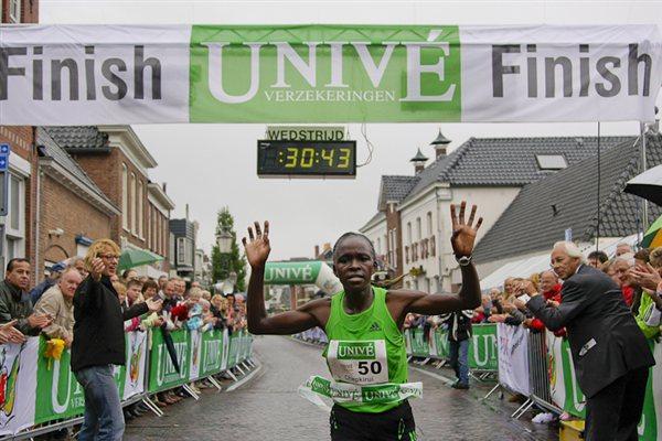 Joyce Chepkirui winning the Appingedam 10K ( Flip Slik/organisers)