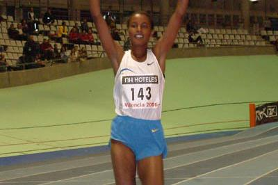Maryam Jamal after her world leading 1500 in Valencia (Julio Fontán)