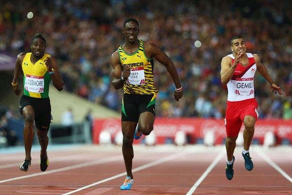 Kemar Bailey-Cole wins the 100m at the Commonwealth Games (Getty Images)