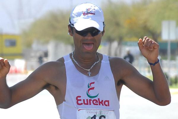 Omar Zepeda, the Chihuahua 50k winner (Chihuahua organisers)