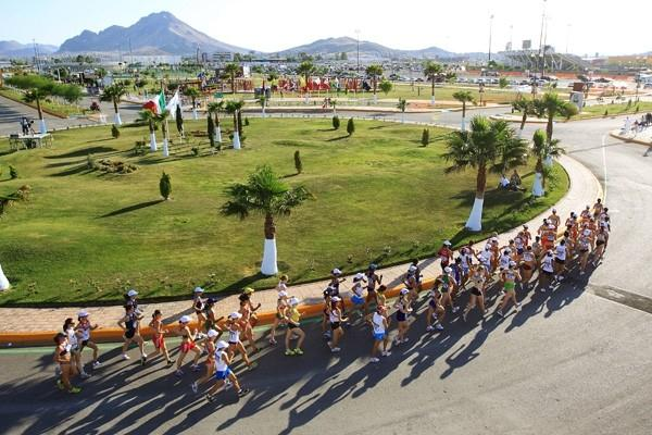 A general view of the women's 20km race in Chihuahua (Getty Images)