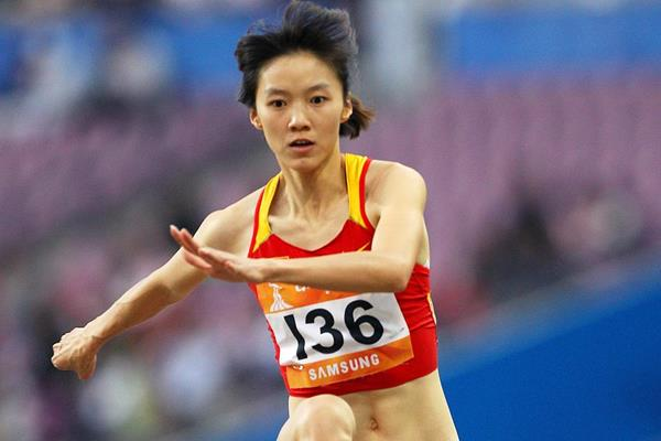 China's Xie Limei in action in the Triple Jump (Getty Images)