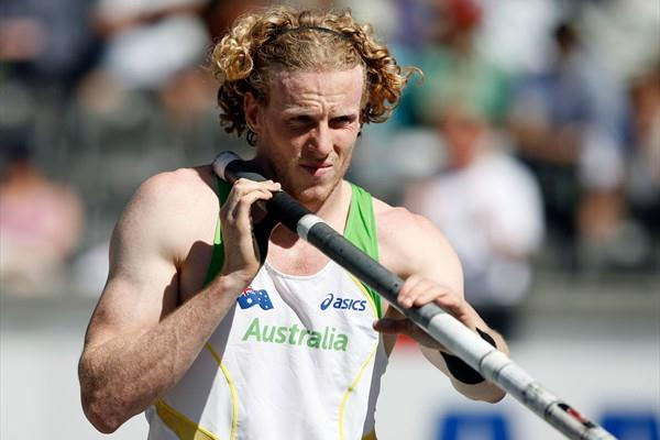 Olympic Champion Steven Hooker of Australia competes in the men's Pole Vault qualification in Berlin (Getty Images)