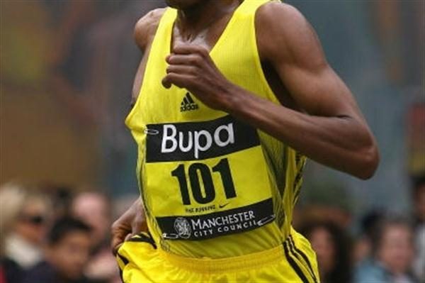Haile Gebrselassie running in the 2009 BUPA Great Manchester Run (10km) (Getty Images)