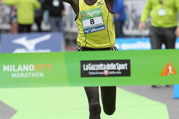 2:09:15 for Jafred Chirchir Kipchumba at the Milano City Marathon (Giancarlo Colombo)