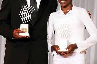Justin Gatlin and Tirunesh Dibaba - World Athletics Gala (Getty Images)