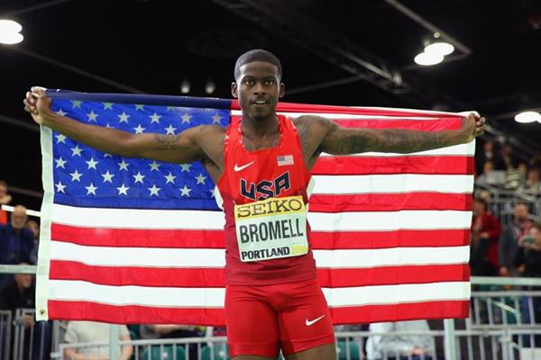 Trayvon Bromell at the IAAF World Indoor Championships Portland 2016 (Getty Images)