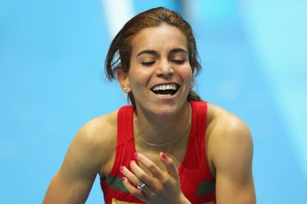 Rababe Arafi at the IAAF World Indoor Championships Sopot 2014 (Getty Images)