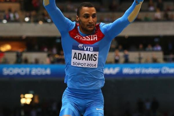Lyukman Adams in the triple jump at the 2014 IAAF World Indoor Championships in Sopot (Getty Images)