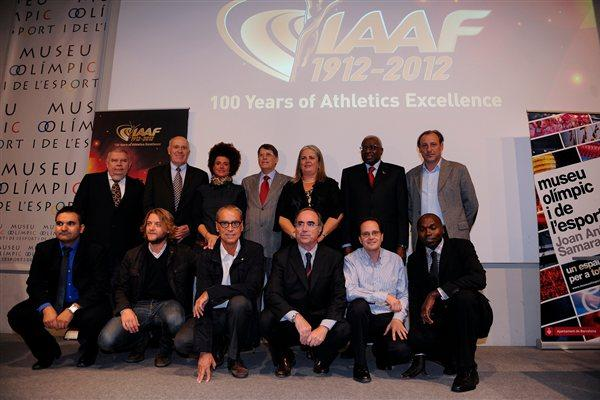 At the Official Opening Ceremony of the IAAF Centenary Historic Exhibition in Barcelona (Getty Images)