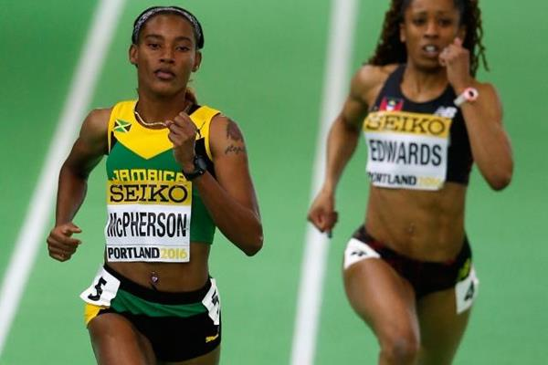 Stephenie Ann McPherson in the women's 400m heats at the IAAF World Indoor Championships Portland 2016 (Getty Images)