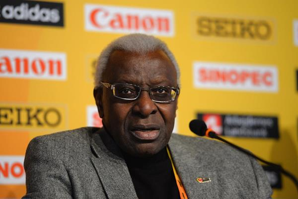 IAAF president Lamine Diack at the press conference ahead of the IAAF/AL-Bank World Half Marathon Championships in Copenhagen (Getty Images)
