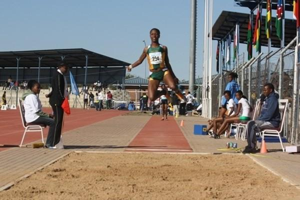 Patience Ntshingila of South Africa in Gaborone (Mark Ouma)