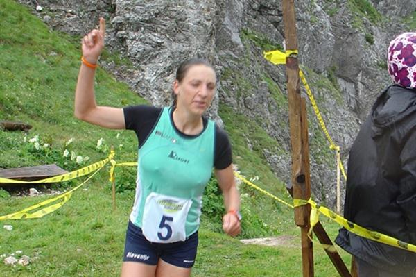 Lucija Krkoc claims the difficult victory in Kamnik (Tomo Sarf)
