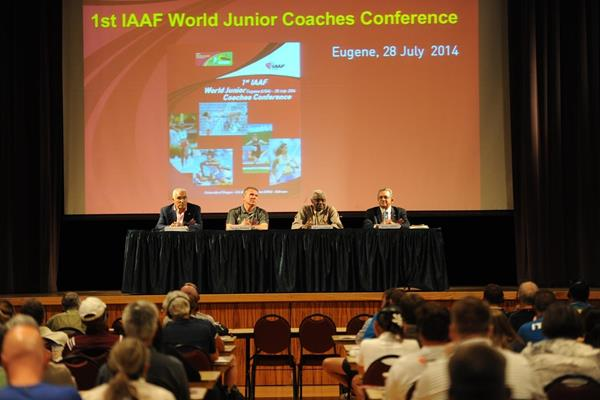 The opening of the 1st IAAF World Junior Coaches Conference in Eugene (Getty Images)