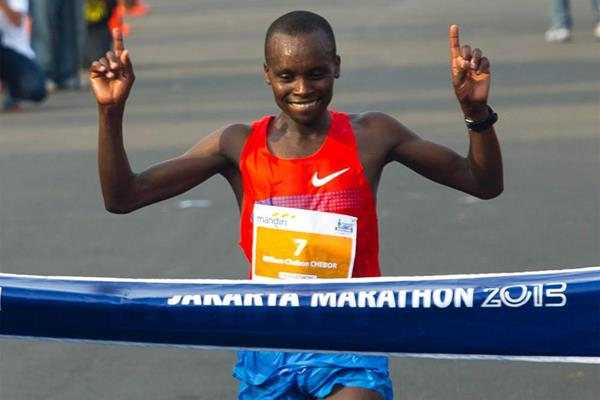Kenya's William Chebor wins the men's race (Organisers)