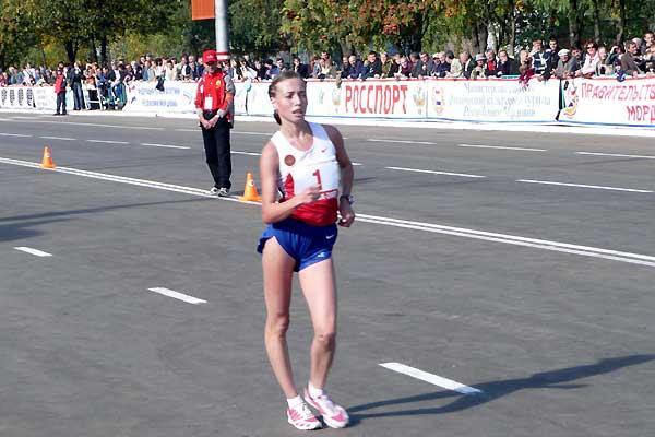 Saransk solo for Olga Kaniskina, the World champion (Paul Warburton)