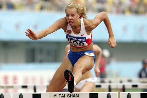 Tatyana Chernova of Russia in action in the Heptathlon (Getty Images)